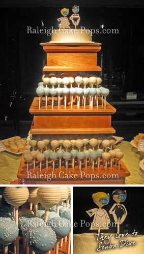 wooden cake pop stands